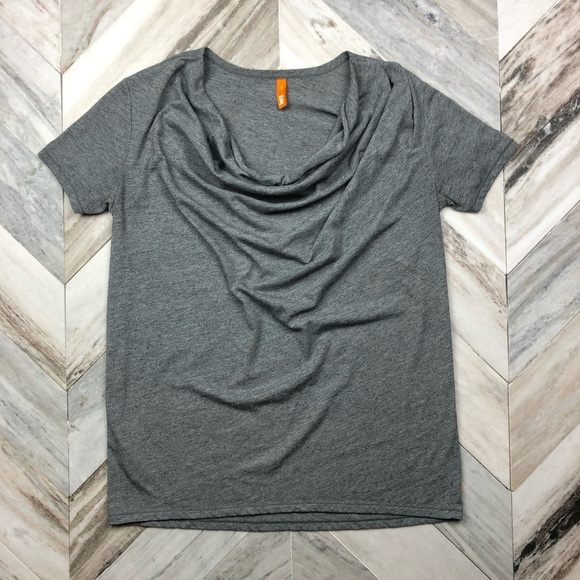 Lucy Tops - Lucy Athletic Grey Cowl Neck Tee Size Small